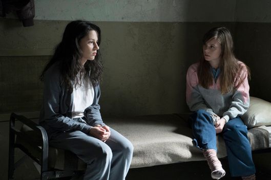 "THE AMERICANS -- ""Dimebag"" Episode 304 (Airs Wednesday, February 18, 10:00 PM e/p) Pictured: (L-R) Annet Mahendru Nina Sergeevna, Katja Mira Herbers as Evi. CR: Ali Goldstein/FX"