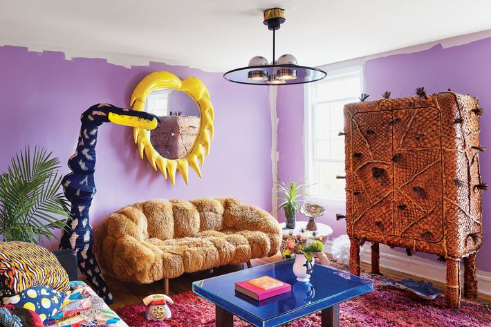 The decidedly maximalist home of New York designer Misha Kahn — the Strategist's post on maximalist decorating tips.