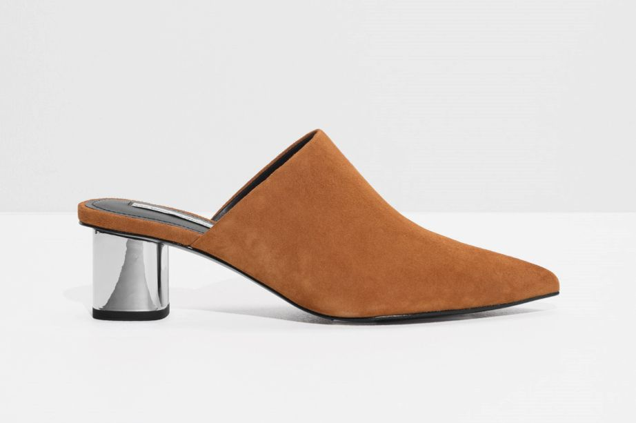 & Other Stories Pointed Block Heel Mules
