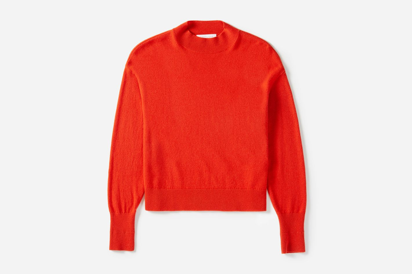 Cashmere Crop Mock in Persimmon