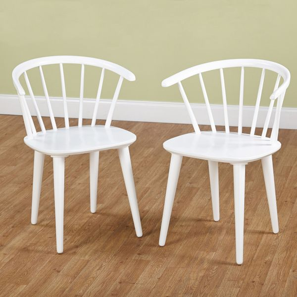 Florence Dining Chair, Set of 2, White