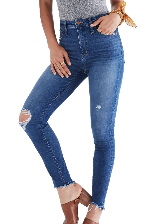 0a748dc40b9 Madewell Drop Step Hem Curvy High Waist Skinny Jeans