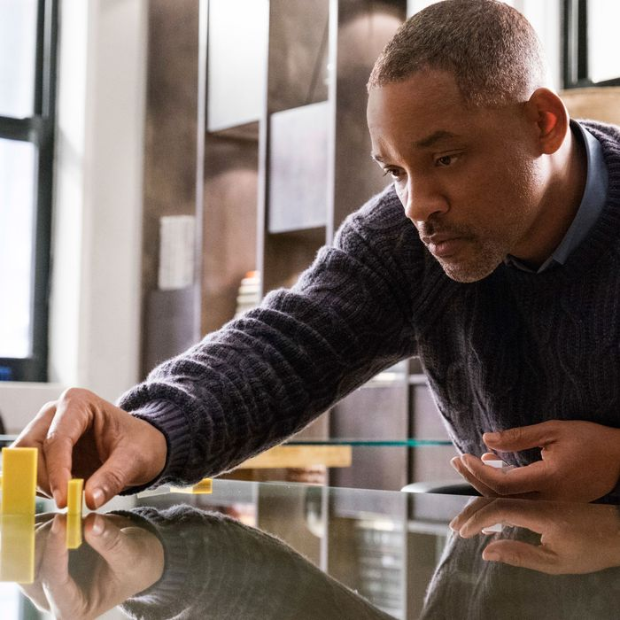 This image released by Warner Bros. Pictures shows Will Smith in a scene from