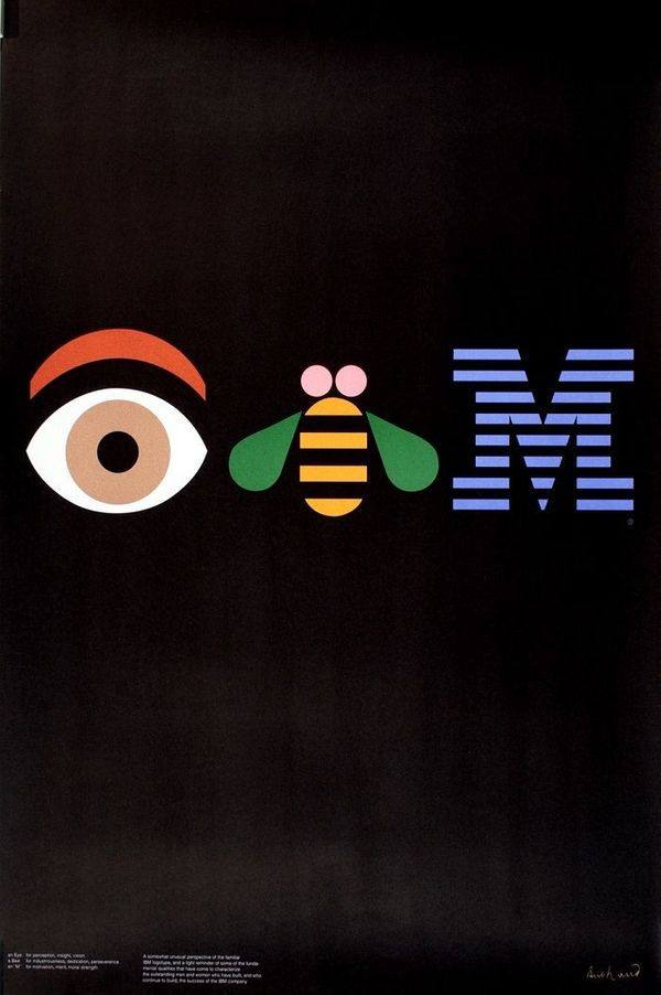 Original IBM Poster by Paul Rand