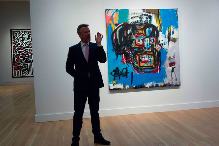 Basquiat painting makes history at NY auction