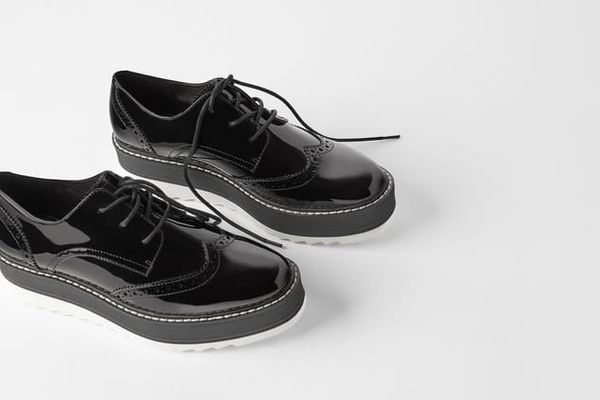 Zara Flat Platform Derby Shoes