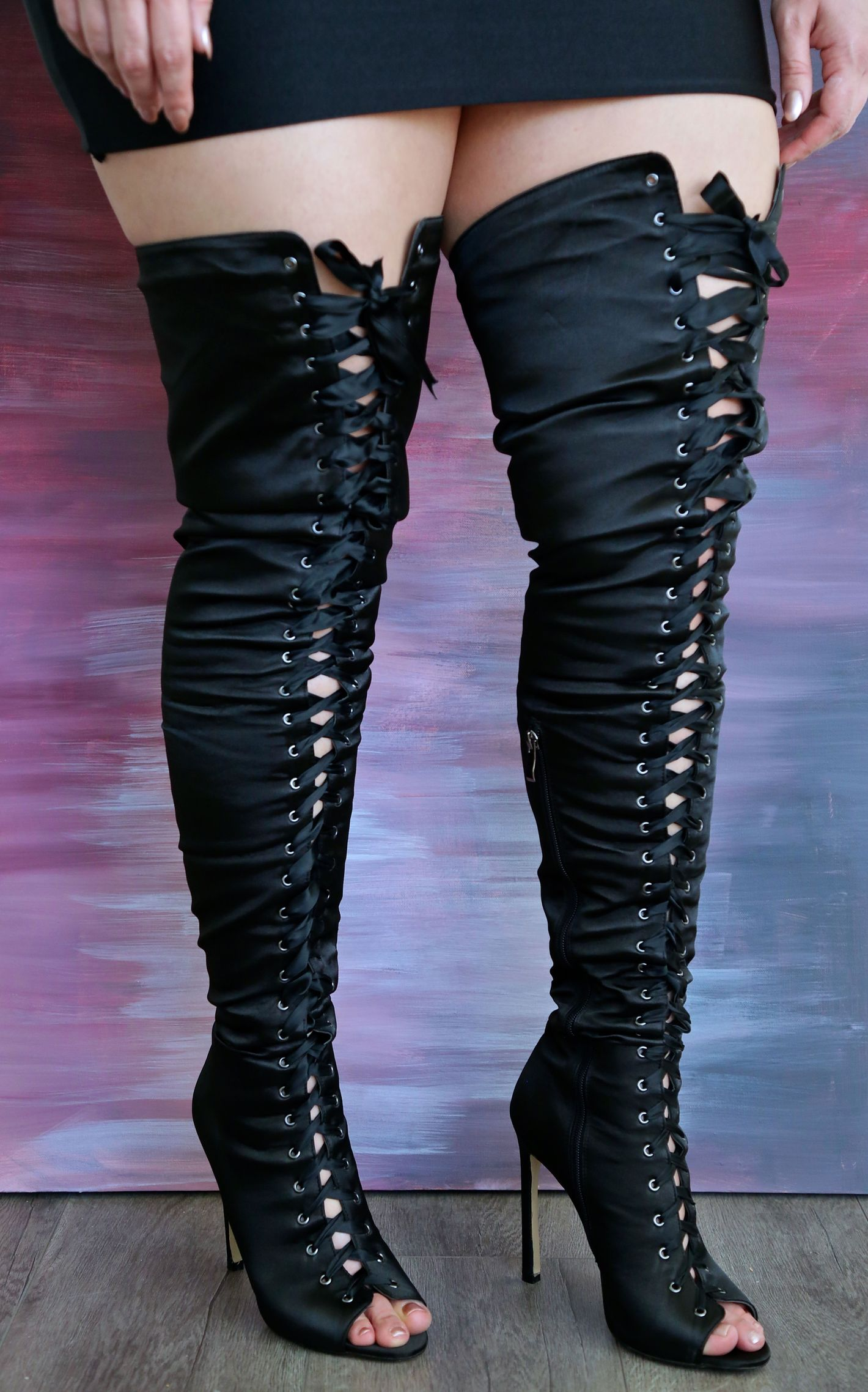 flat thigh high boots cheap yu boots