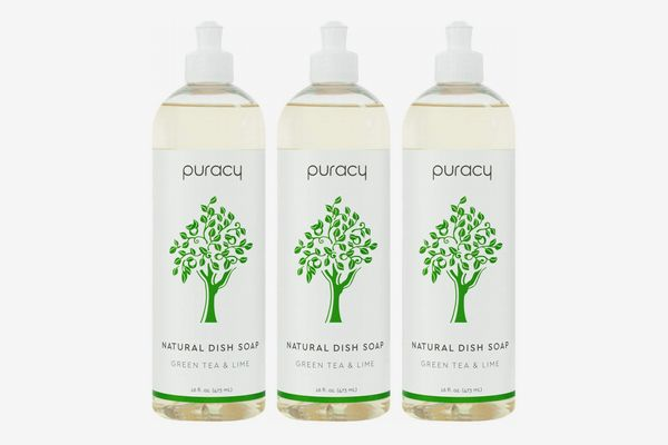 Puracy Natural Dish Soap, 16 Ounce (3-Pack)