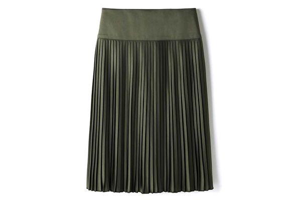 Pleated Midi Skirt