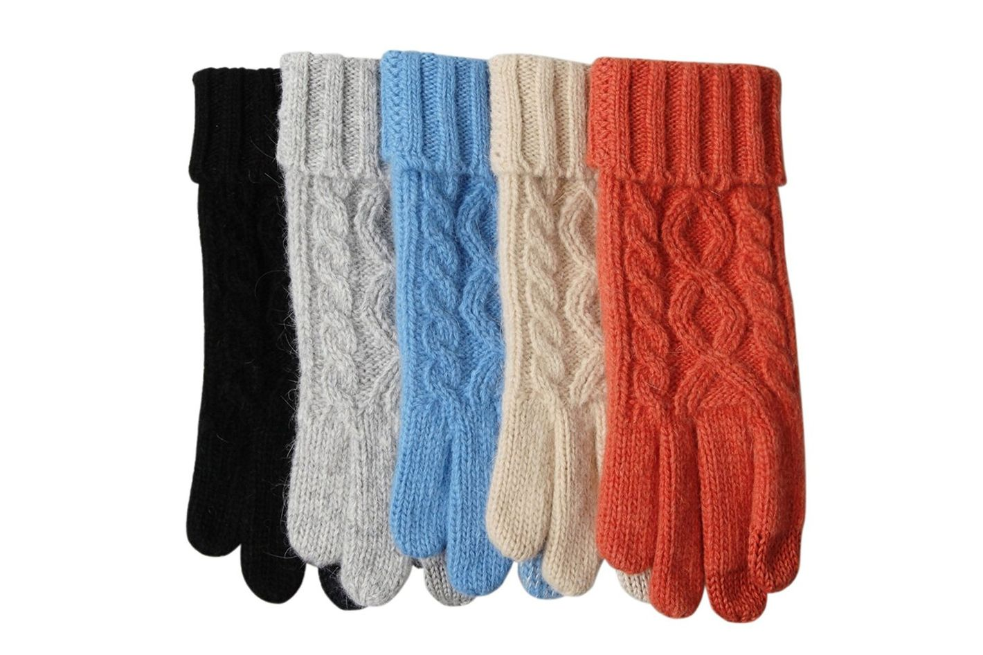 Women's Texting Touchscreen Winter Cold Weather Super Warm Cozy Wool Knit Thick Fleece Lined Gloves