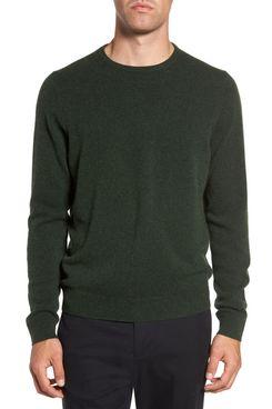 nordstrom cashmere crewneck mens sweater forest green - strategist nordstrom half yearly sale best deals