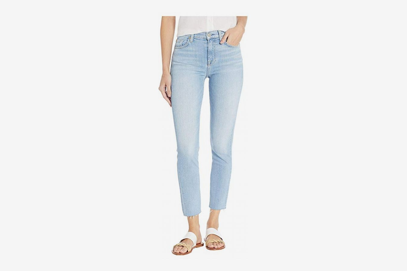7 For All Mankind High-Waisted Roxanne Ankle in Roxy Lights