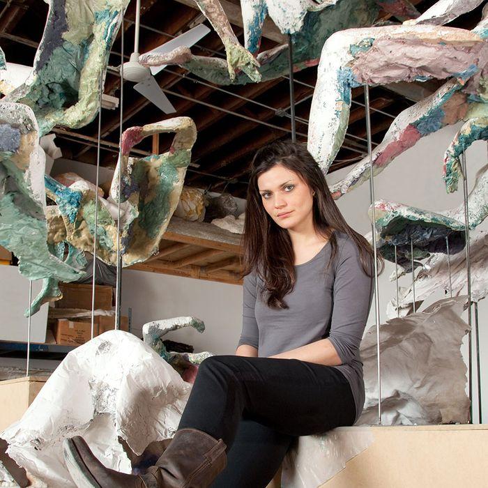 Diana Al-Hadid in her Brooklyn studio.