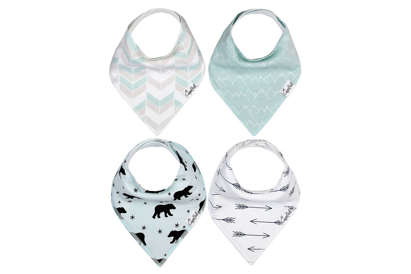 Copper Pearl Baby Bandana Drool Bibs, Pack of 4