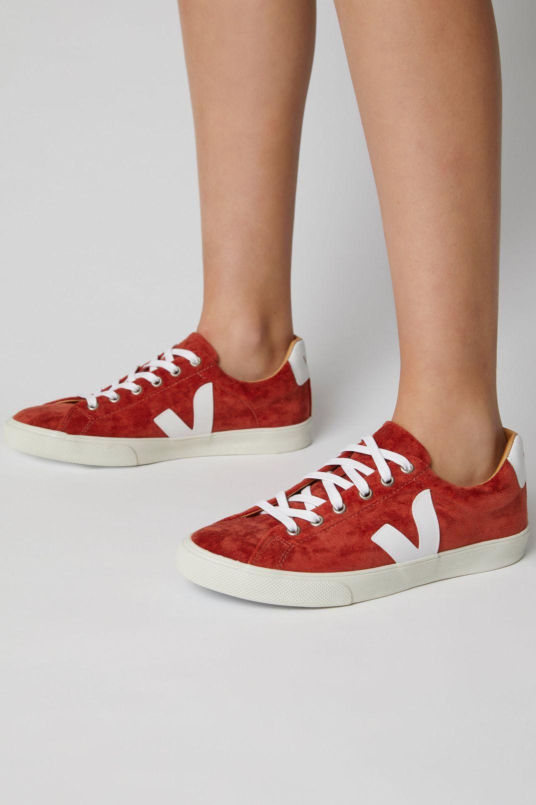Veja Esplar Leather-Trimmed Suede Sneakers