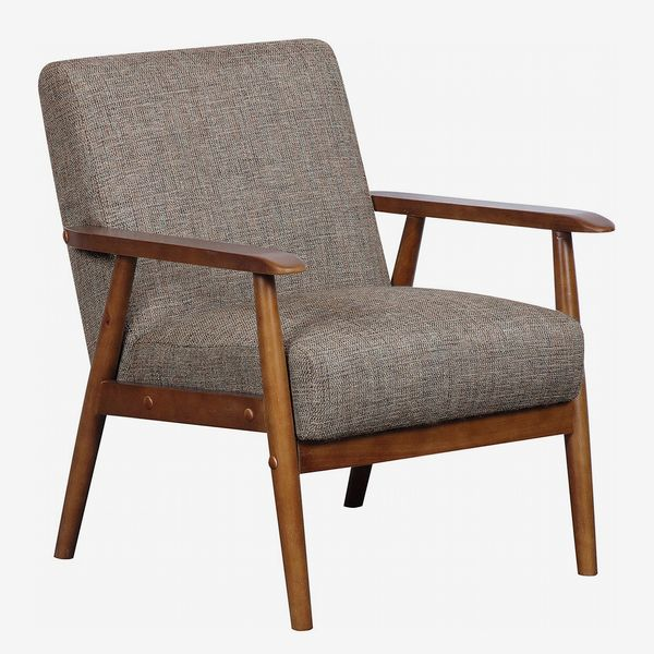 Pulaski Home Comfort Mid-Century-Modern Wood-Frame Accent Chair