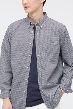 Uniqlo Extra Fine Cotton Broadcloth Long-Sleeve Shirt