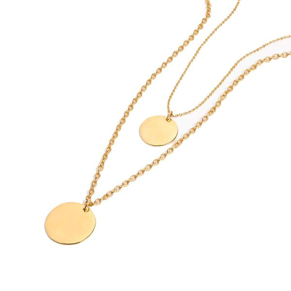 J. Crew Layered Coin Necklace