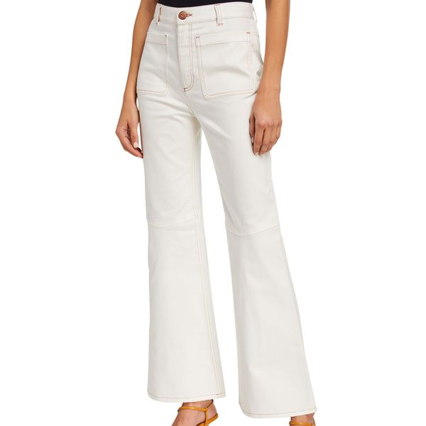 See by Chloe High-Rise Cropped Flare Pants
