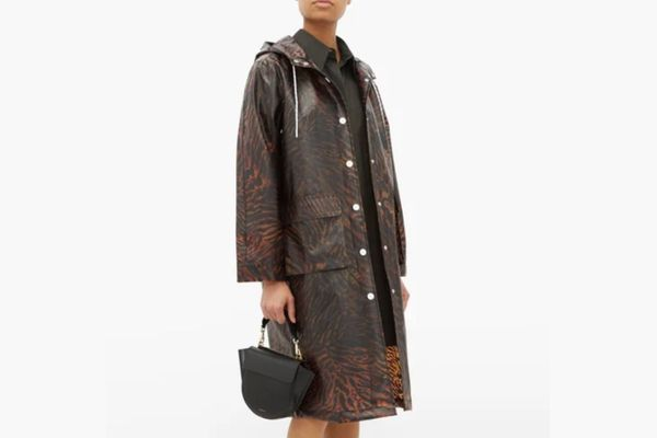 Ganni Tiger-print Biodegradable Rain Coat