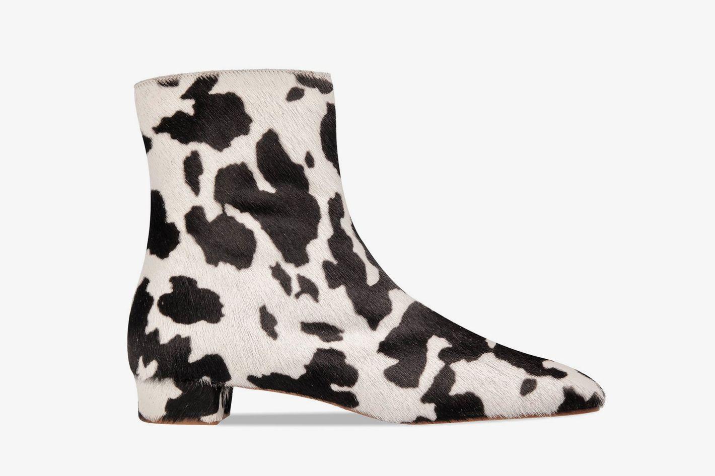 By Far Este Boot Cow-Print Pony Hair Leather