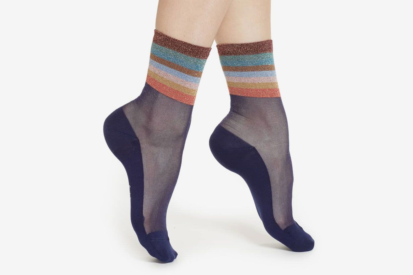 Paul Smith Hatty Metallic Stripe Crew Socks
