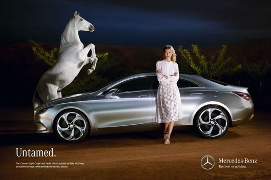 Odd couple ryan mcginley karlie kloss s new ad the cut for Mercedes benz new advert