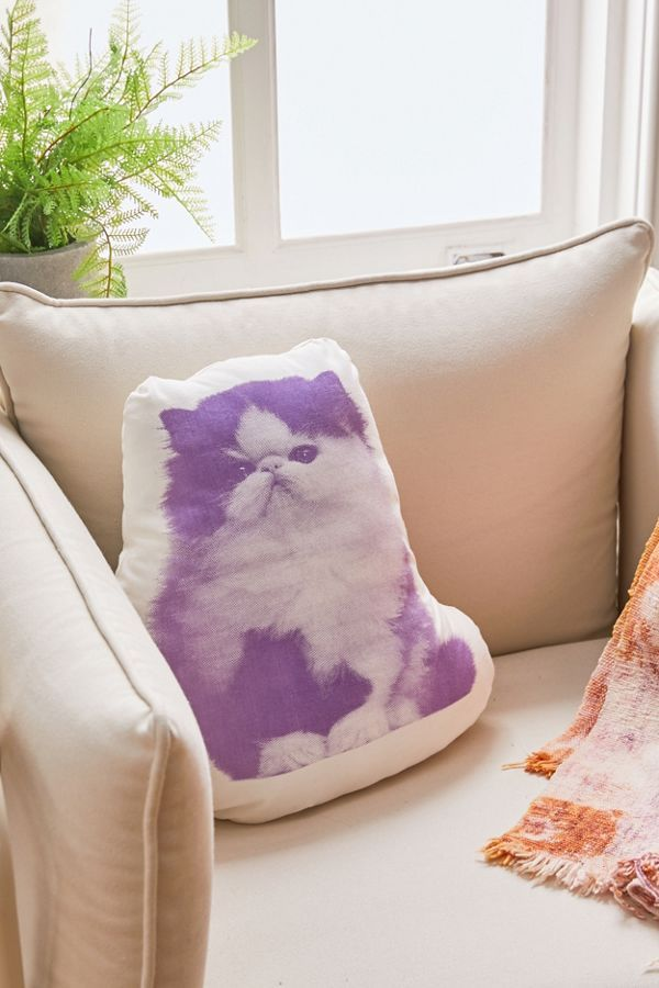 Areaware Persian Cat Throw Pillow