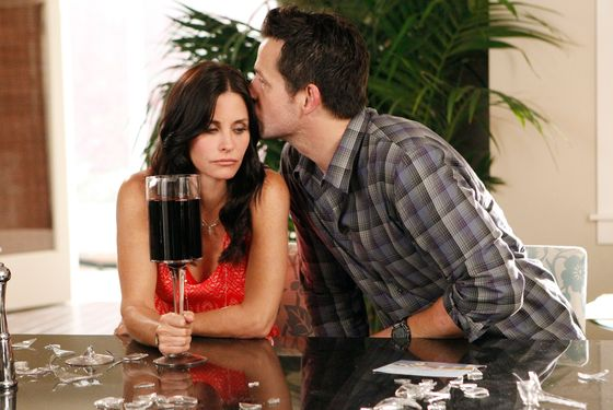 "COUGAR TOWN - ""Something Big"" - Just as Jules is trying to work through Grayson's ""baggage"" from his wild single days, a chance encounter with a former fling, Holly (guest star Briga Heelan), ends with him learning that he's the father of a one-year-old baby girl he never knew he had, on ""Cougar Town"