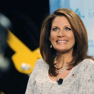 PELLA, IA - NOVEMBER 1: Republican presidential candidate U.S. Rep. Michele Bachmann (R-MN) speaks during a forum on manufacturing November 1, 2011 at Vermeer Manufacturing in Pella, Iowa. Five of the Republican candidates, excluding Herman Cain and former Massachusetts Gov. Mitt Romeny who declined to come, are slated to appear at the forum. (Photo by Steve Pope/Getty Images)