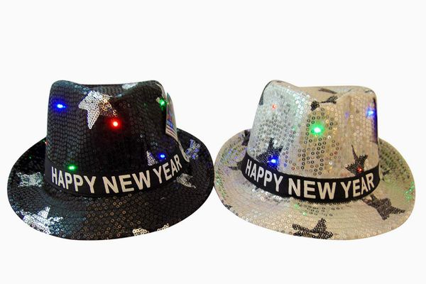 Shawshank Happy New Years Light Up Fedora Hats for Him and Her