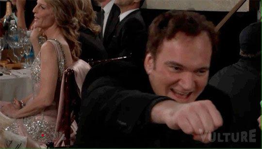 Quentin Tarantino spit-take