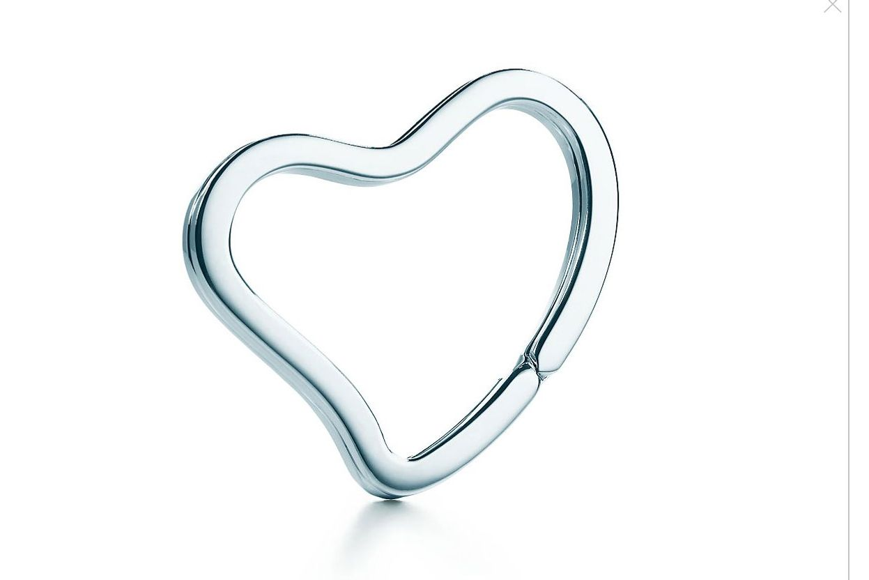 Elsa Peretti Open Heart Key Ring