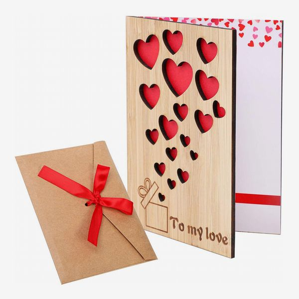 Cooraby Bamboo Wooden Greeting Card