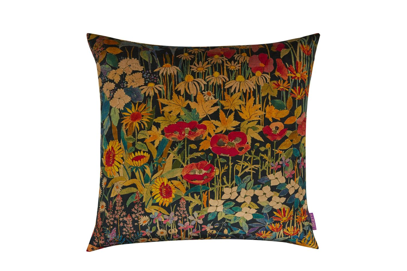 Liberty London Faria Flowers in Marigold Cushion