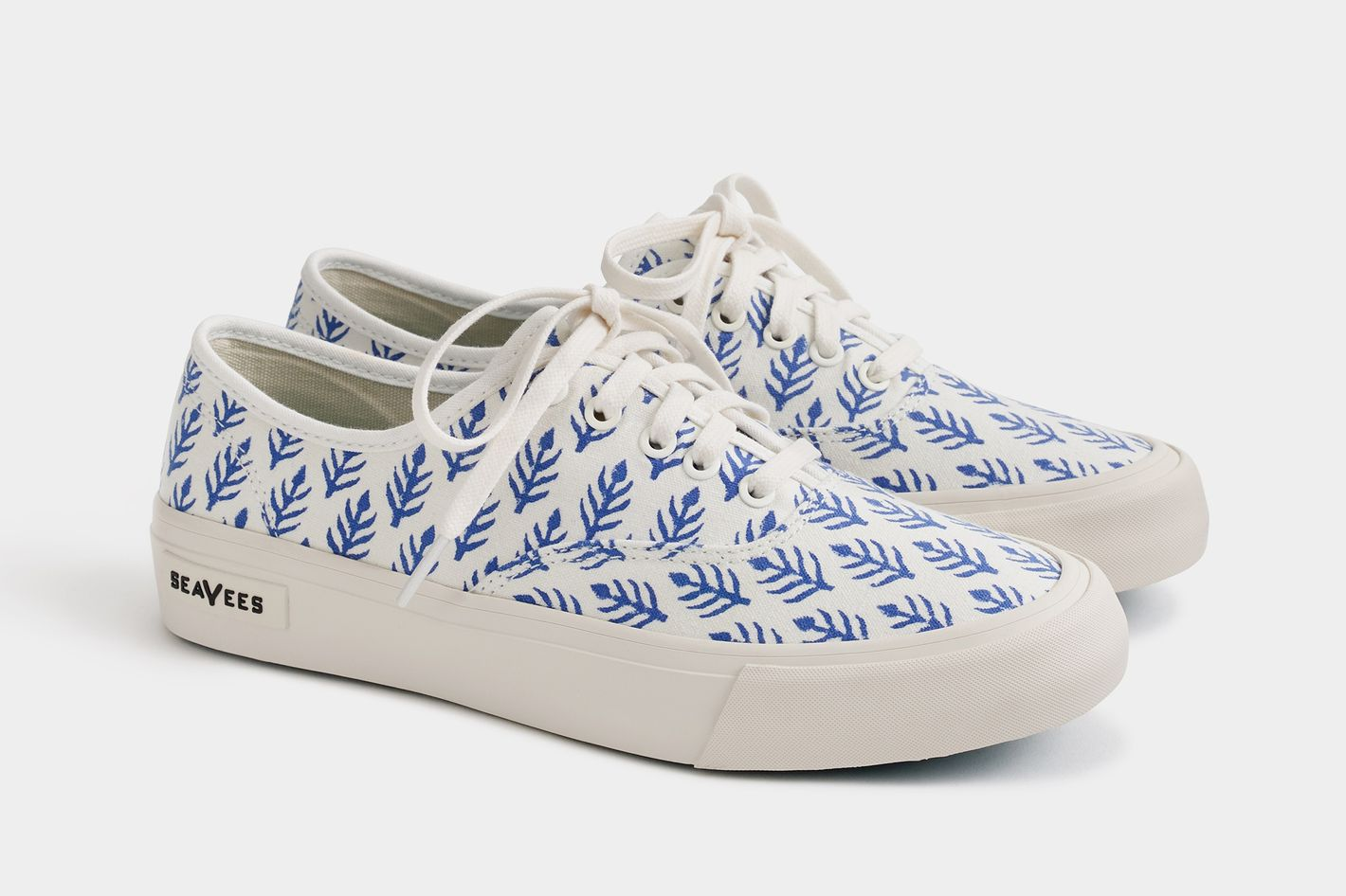 SeaVees® for J.Crew Legend sneakers in SZ Blockprints™ blue leaves