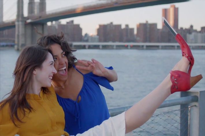 The shoe that lets you take selfies and crotch-flash passersby.