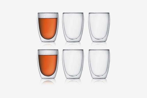 Bodum Pavina Double Wall Glasses, 12 Oz. 6 Piece Set