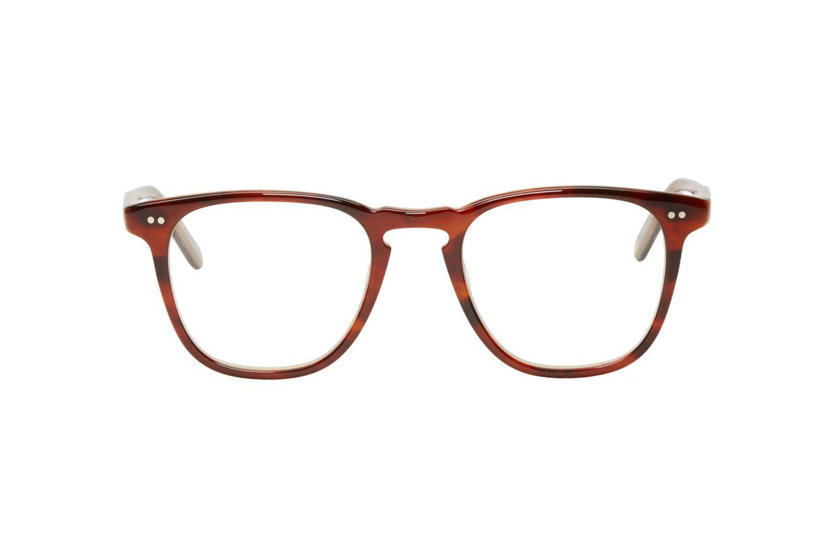 Garrett Leight Tortoiseshell Clip-On Brooks Optical Glasses