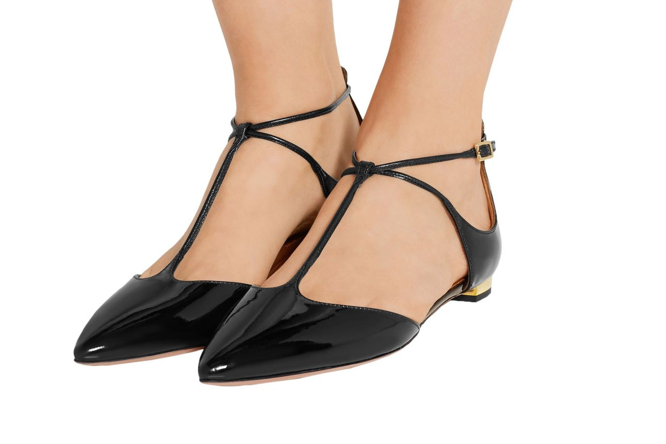 Aquazzura Point Toe Flats