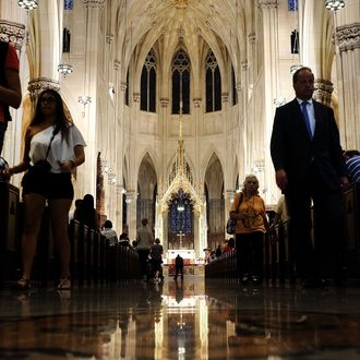 New York's St. Patrick's Cathedral Prepares For Pope Francis's Visit