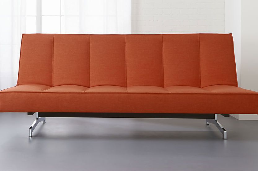 A Couch Bed CB2 Flex Orange Sleeper Sofa
