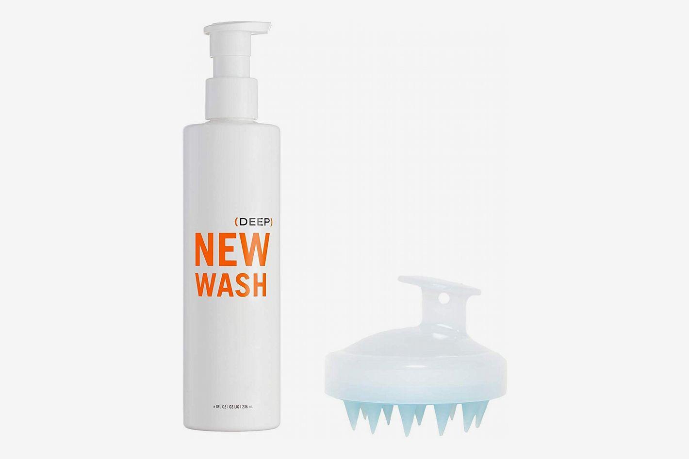 Hairstory New Wash (Deep) Hair Cleanser 8 oz + Shower Brush