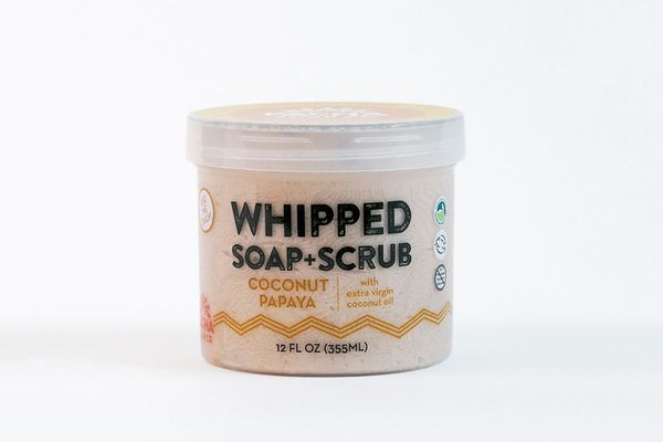 Whipped Soap Scrub in Coconut Papaya