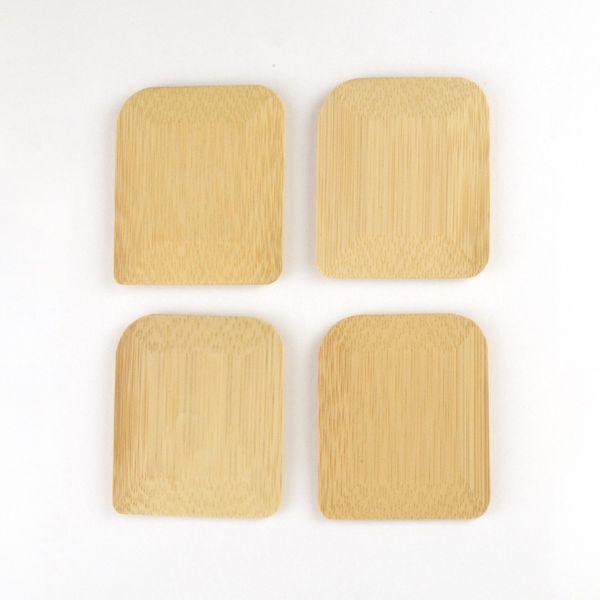Tiny Yellow Bungalow Bamboo Pot Scrapers (Set of 4)