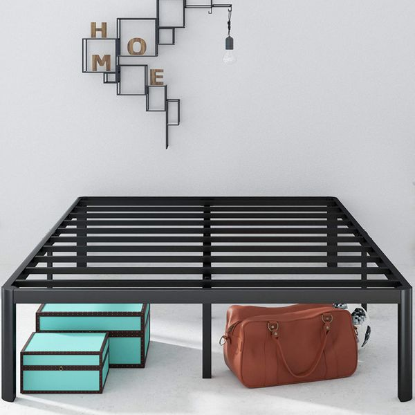 Zinus Van 16 Inch Metal Platform Bed Frame with Steel Slat Support, Queen