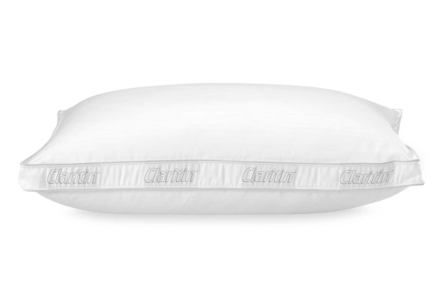 The Turgeon-suggested Claritin pillow has some (surprise) hypoallergenic  advantages going for it; the polyester cover blocks various household