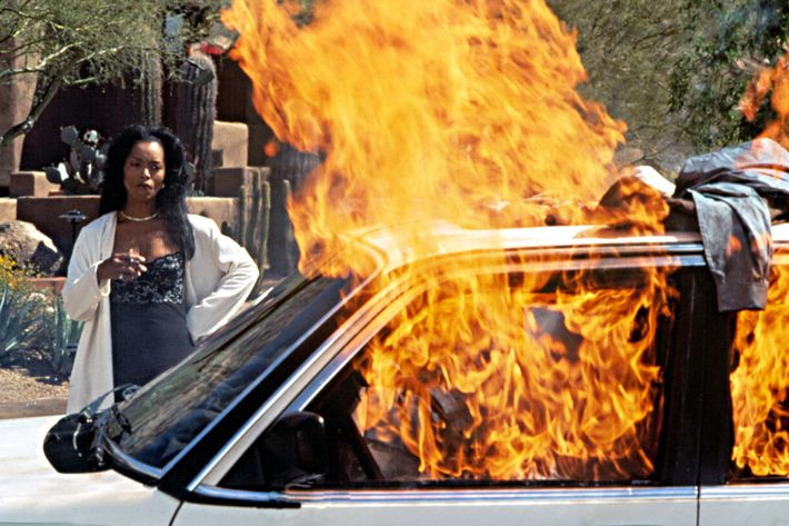 Angela Bassett in <em>Waiting to Exhale</em>.