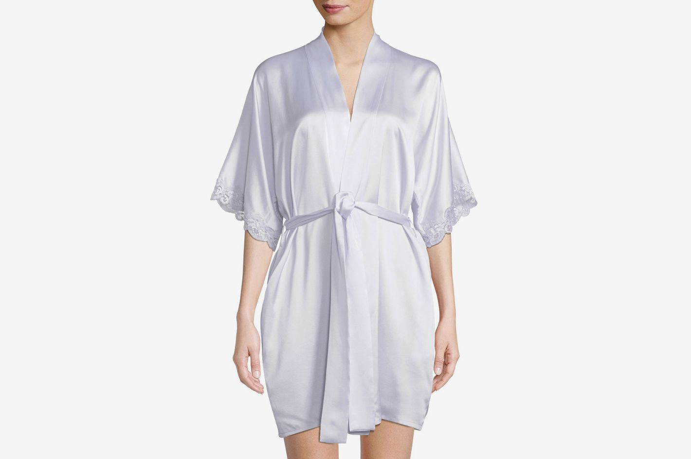 852398ba4e Christine Lingerie Bijoux Short Silk Robe
