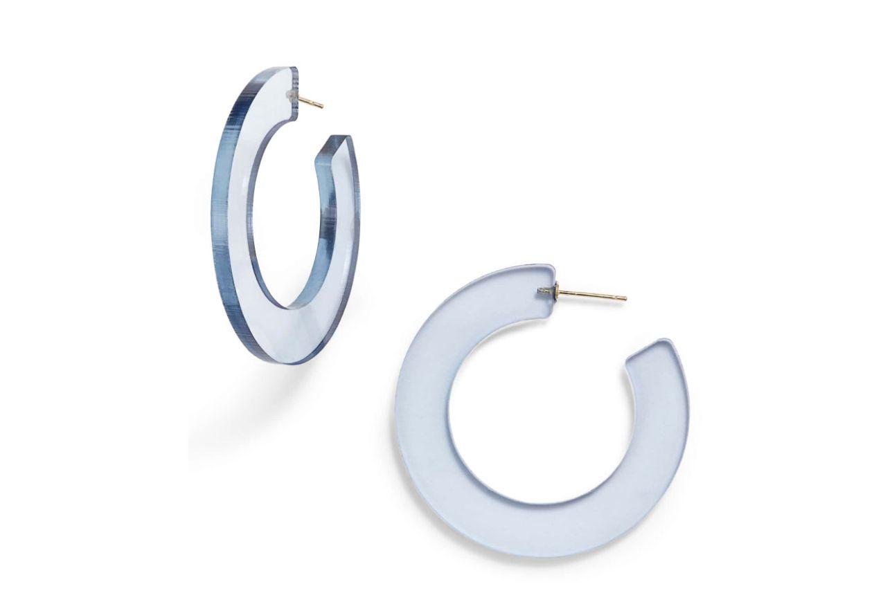 Sterling Forever Acrylic Hoop Earrings